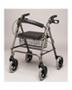 PCP 4 Four Wheeled Rollator, Loop Brakes with Curved Back & Basket