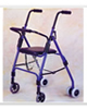 PCP 4 Four Wheeled Rollator, Push Down Brakes with Seat Basket