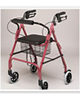 PCP 4 Four Wheeled Rollator, Loop Brakes with Seat Back and Basket