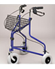 PCP 3 Three Wheeled Rollator with Basket